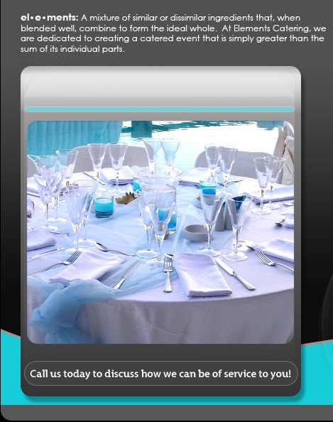 Elements Catering Denver Corporate Wedding Catering